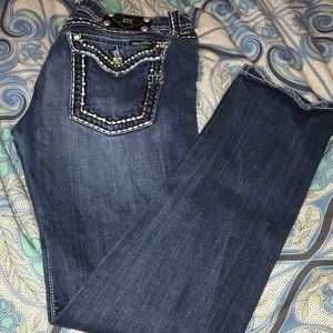 Miss Me Skinny Jeans with Metallic Stitching